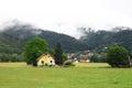 Good villa in mountains Royalty Free Stock Photo