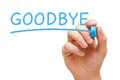 Goodbye Blue Marker Royalty Free Stock Photo
