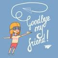 Goodbye my friend Royalty Free Stock Photo