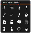 goods for pets icon set