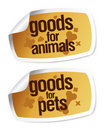 Goods for pets stickers Stock Photo