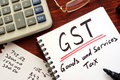 The goods and services tax GST. Royalty Free Stock Photo