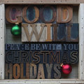 Goodwill Christmas holiday words Stock Photo