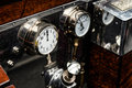 GOODWOOD, WEST SUSSEX/UK - SEPTEMBER 14 : Dials and guages on an Royalty Free Stock Photo