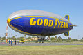 Goodyear blimp spirit of america docked at its docking station Royalty Free Stock Image