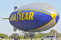 Goodyear blimp spirit of america docked at its docking station Stock Images