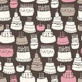 Gooey Birthday Pattern Royalty Free Stock Images