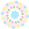 Gooey Swirl Circle Lollipop Vector Royalty Free Stock Photography