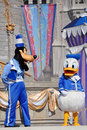 Goofy and Donald Duck in Disney World Stock Image