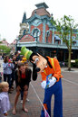 Goofy signing autogragh his autograph in disney paris was one of many disney characters children and adults could have their Stock Photography