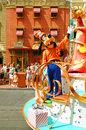 Goofy waving at the children during the midday parade in magic kingdom orlando florida Royalty Free Stock Photography