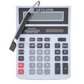 Google glass and calculator isolated render on a white background Royalty Free Stock Photo