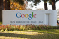 Google sign in mountain view california u s a Royalty Free Stock Photography