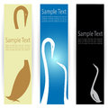 Goose banners vector image of an Royalty Free Stock Images