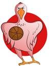 Goose Basketball Mascot Cartoon