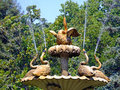 Goose fountain with geese dolmabahce palace in istanbul Stock Photography