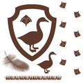 Goose isolated objects on white background vector illustration eps Royalty Free Stock Images