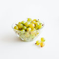 Gooseberries in a glass bowl Stock Images