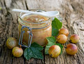 Gooseberry jam Royalty Free Stock Image