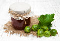 Gooseberry jam Royalty Free Stock Photo