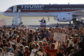 Gop presidential candidate donald trump campaigns in sacramento ca june republican speaks at a campaign rally airport hanger Royalty Free Stock Image