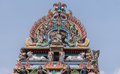 Gopuram crown at Shiva temple in Kottaiyur Royalty Free Stock Photo