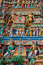 Gopuram (tower) of Hindu temple Royalty Free Stock Photography