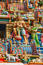Gopuram (tower) of Hindu temple Stock Photo