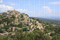 Gordes provence france the famous village of built on a hill in Stock Photos
