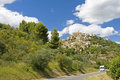 Gordes, road to Gordes. Provence. France. Royalty Free Stock Photos