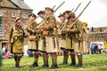 Gordon highlanders highlands celebration of the centuries took place on the th th august at fort george inverness scotland u k the Royalty Free Stock Photo