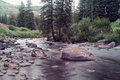 Gore creek in vail colorado image shot the late afternoon Royalty Free Stock Photos