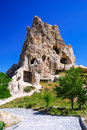 Goreme cappadocia most famous sight in kapadokya region of turkey kizlar monastery rock carved byzantine ancient church Royalty Free Stock Image