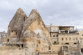 Goreme cave city in cappadocia turkey Stock Images