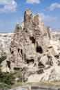 Goreme dwellings turkey the inside a typical minaret like geological formation in Royalty Free Stock Images