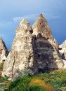 Goreme landscape with fairy chimneys Royalty Free Stock Photo
