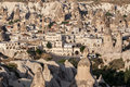 Goreme minaret fomations turkey the fantastic dunes with like formations and the housing in village cappadocia Royalty Free Stock Image