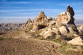 Goreme national park landscape near in cappadocia turkey Royalty Free Stock Images