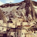 Goreme to visit cappadocia is the main center town of this turkish region Royalty Free Stock Photos