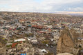 Goreme view in Cappadocia, Turkey Royalty Free Stock Photo