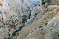Gorge at Crete island in Greece Stock Photo