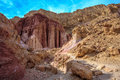 Gorge in the dry mountains of Eilat Royalty Free Stock Photo
