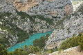 Gorge du verdon provence france verdone river seen from the top of the Stock Photos