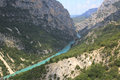 Gorge du verdon provence france verdone river seen from the top of the Stock Image