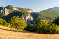 Gorge du Verdon seen from the village of Rougon Royalty Free Stock Photo