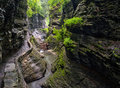 The Gorge Trail in Watkins Glen State Park Royalty Free Stock Photo