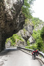 Gorge in Val Taleggio and bicycle Stock Image