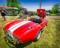 gorgeous amazing rear view of classic vintage sport car Royalty Free Stock Photo