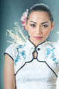 Gorgeous Asian woman in Qipao Royalty Free Stock Image