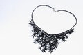 Gorgeous black necklace for special occasions a occasion on a white background Stock Photos